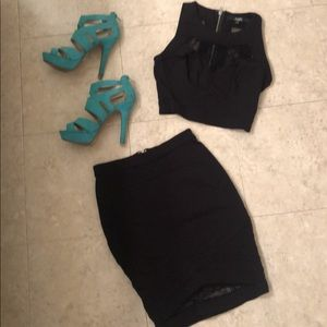Guess 2 Piece Black Outfit